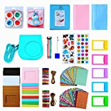 Instant Camera Mini 8 Accessories, SAIKA 15 in 1 Bundles for Fujifilm Instax Mini 8/8+(Case/Photo Album/Selfie Lens/Filters/Camera Strap/Stickers/Picture Frames/Film Clip Holder/Lens Cloth) - Mint
