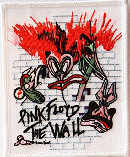 """PINK FLOYD The il Wall muro Rock Music musica Band banda Patch toppa, Officially Licensed Artwork, Iron-On / Sew-On, 3.8"""" x 3.3"""" Embroidered ricamato PATCH"""