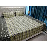 JMT(100% Heavy Stuff Pure Cotton Double Bedsheet With 2 Pillow Cover,size -230x250 Cms, Pillow - 69x46 Cms) - B074D2YGM1