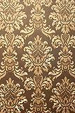 Vinyl Tapete Barock Retro # braun/gold # Kingwelson # 680008