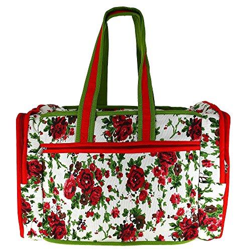 Trapuntato Print borsa da viaggio con fodera impermeabile e 3 tasche - ideale per lo shopping, le gite in spiaggia, palestra & Day