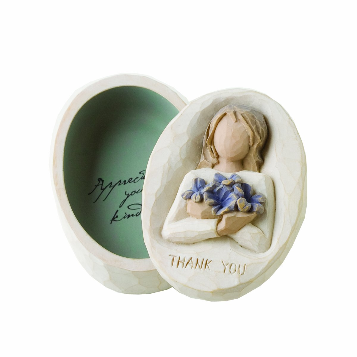 Demdaco Willow Tree Thank You Keepsake Box