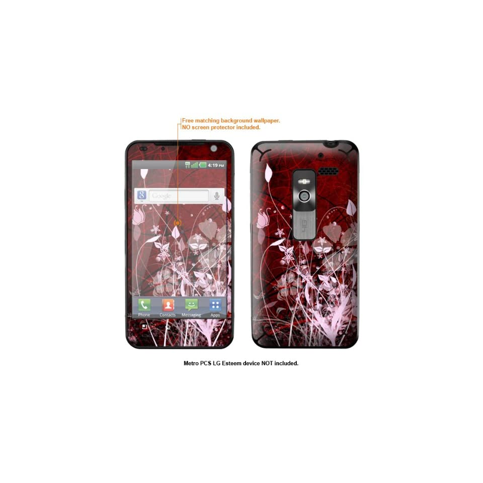 Protective Decal Skin Sticker for Metro PCS LG Esteem 4G case cover Esteem 584