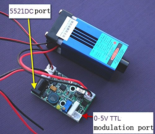 12V Focusable 445nm 2W 2000mW Blue Dot Laser Module w/ TTL + Fan Cooling + Long Working (Laser Modules 2w compare prices)