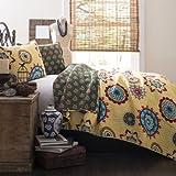 Lush Decor Adrianne 3-Piece Quilt Set, King, Yellow