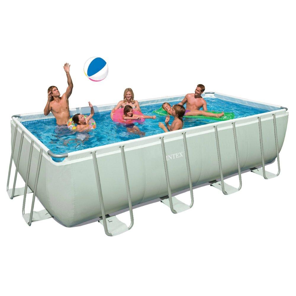 Intex 18ft X 9ft X 52in Rectangular Ultra Frame Pool Set