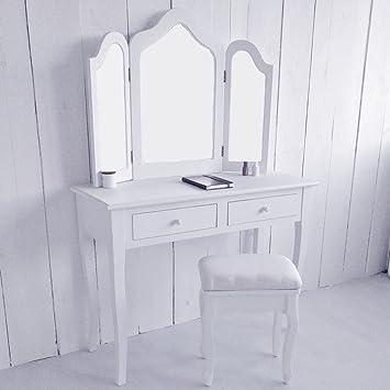 coiffeuse avec miroir laque blanc. Black Bedroom Furniture Sets. Home Design Ideas