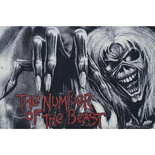 Iron Maiden Zerbino The Number of the Beast Zerbino con scritta in ZERBINO TAPPETO ZERBINO Doormat