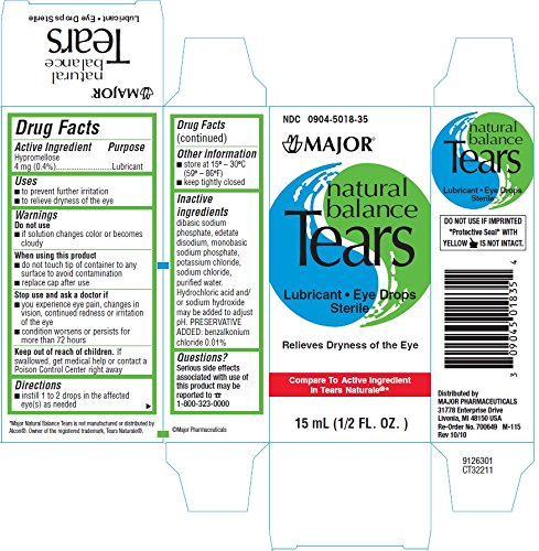 Lubricant Suppliers Y Mail: [6 Pack] Natural Balance Tears Hypromellose 0.4% Lubricant