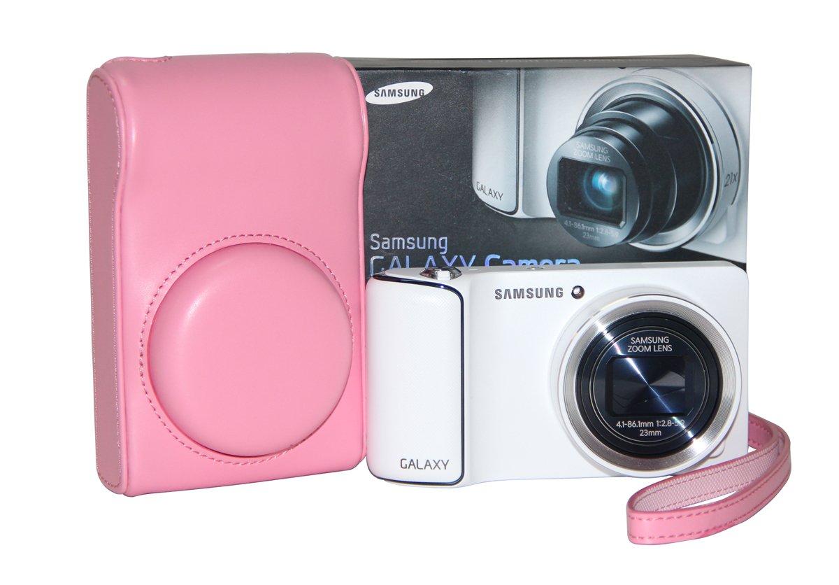 MegaGear Ever Ready Protective Pink Leather Camera Case , Bag for Samsung Galaxy Camera EK-GC100, Samsung EK-GC110 Galaxy Digital Camera