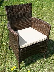 stuhl alu rattan sessel astana braun wetterfest. Black Bedroom Furniture Sets. Home Design Ideas