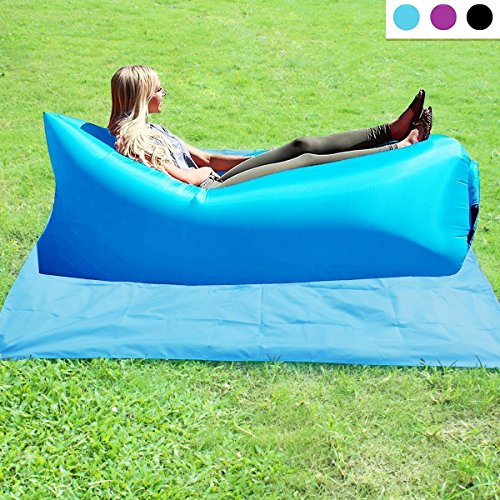 Akface-Inflatable-Air-Lounger-Couch-Portable-Air-Lazy-Sofa-Bag-Waterproof-Nylon-Fabric-hammock-for-Family-Outdoor-Party-Camping-Picnic-Sport-Outing-Beach-Park-Without-Air-Pump