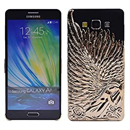 Galaxy A5 Case, Turf Angel Wings Stylish Deluxe Bling Sparkly Electroplate Embossment 3D Protective Cover for Samsung Galaxy A5 Gold