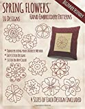 img - for Spring Flowers Hand Embroidery Patterns book / textbook / text book