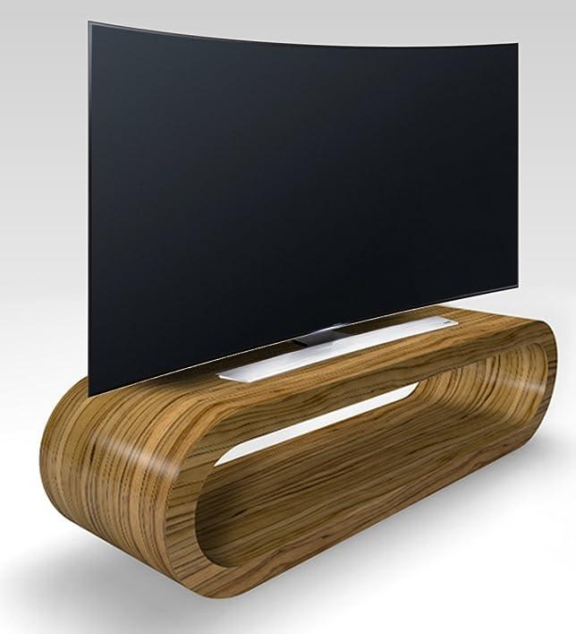 Stile Retrò Cerchio Grande Zebrano Luce Lucido Porta Tv / Armadietto 110 cm