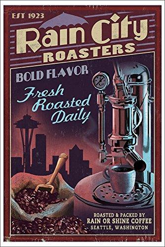 Seattle, Washington - Coffee Roasters Vintage Sign (12X18 Art Print)