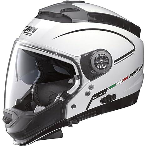 Nolan - Casque - N44 STORM N-COM - Couleur : metal white - Taille : XS