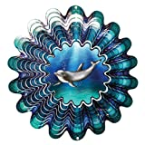 Iron Stop Animated Dolphin Wind Spinner