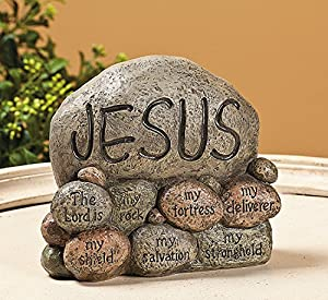 Jesus stones tabletopper religious home for Home decorations amazon
