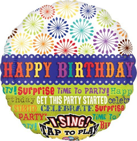 Anagram International 2207001 Get Party Started Birthday S-A-T Balloon, 28""
