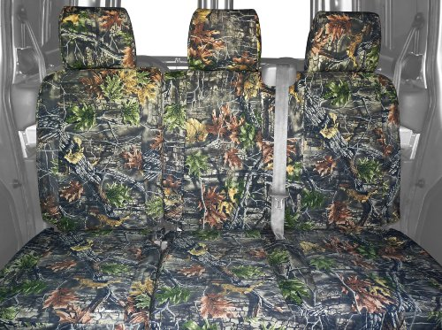 CalTrend Rear Row 60/40 Split Bench Custom Fit Seat Cover for Select Ford Models - Camouflage (Hunter Camouflage) (Camo Seat Cover Set For Ford F250 compare prices)