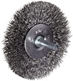 Weiler Vortec Pro Wire Wheel Brush, Round Shank, Carbon Steel, Crimped Wire