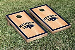 Nevada Wolf Pack Cornhole Game Set Hardcourt Border Version