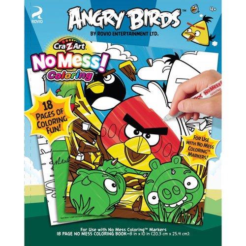 Angry Birds No Mess 18 Pg Coloring Pad