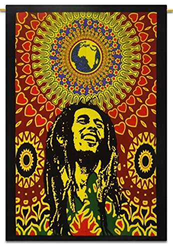 bob-marley-cotton-indian-wall-hanging-tapestry-poster-size-muticolour-throw-42x30-inches-with-sequin