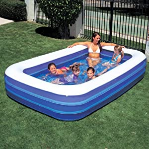 Bestway large rectangular paddling pool for Garden paddling pools