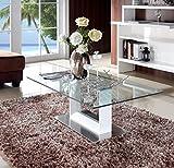 Couchtisch-Glas-Hochglanz-Wei-Wohnzimmer-Designer-Tisch-Glasplatte-Modern