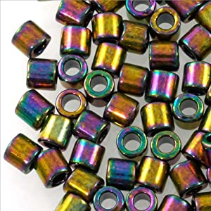 Miyuki Delica Seed Bead 8/0 Metallic Bronze AB (3 Gram Tube) Beads