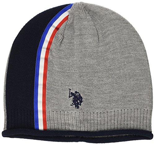 U.S.POLO ASSN. Band Side Hat, Cappello Uomo, Grigio Chiaro Melange, Taglia Unica