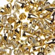 EOZY 100pcs Gold 10*6mm Metal Punk Spike Studs Bullet Rivet Spots Fit for DIY Bag Belt Cloth Leathercraft