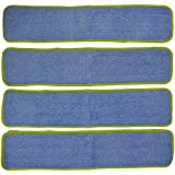 Commercial Microfiber Wet Mop Pad Refill 24 In Green 4 Pack
