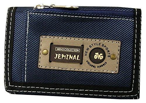 qishi-yuhua-jml-mens-korean-short-paragraph-3-fold-canvas-purse-blue-canvas-wallets