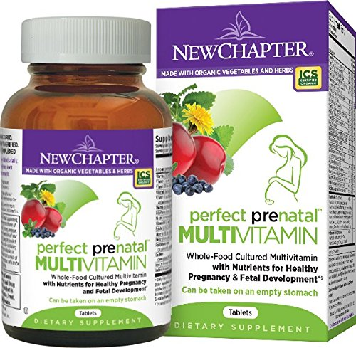 New Chapter Perfect Prenatal Vitamin Fermented with Probiotics + Folate + Iron  + Vitamin D3 + B Vitamins + Organic Non-GMO Ingredients - 192 ct