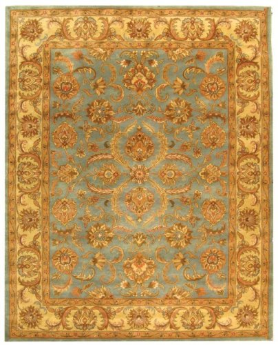 Safavieh Heritage Collection HG811B Handmade Blue and Beige Wool Area Rug, 2 feet by 3 feet (2' x 3')