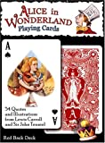 Alice In Wonderland Playing Cards - Red Back Deck