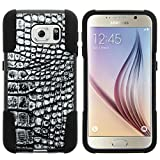 Galaxy S6 Case, Dual Layer Shell STRIKE Impact Kickstand Case with Unique Graphic Images for Samsung Galaxy S6 VI SM-G920 (T Mobile, Sprint, AT&T, US Cellular, Verizon) from MINITURTLE | Includes Clear Screen Protector and Stylus Pen - Smoke Gray Scales