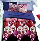 Gujattire Cotton Silk Blend Floral Double Bed Bedding Set - CBS09