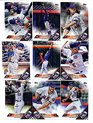 2016 Topps Baseball Series 1 New York Mets Team Set of 14 Cards: Travis d'Arnaud(#31), Noah Syndergaard(#43), Matt Harvey(#67), Wilmer Flores(#86), Michael Cuddyer(#136), Jon Niese(#145), Jeurys Familia(#190), Michael Conforto(#232), Juan Lagares(#236), N