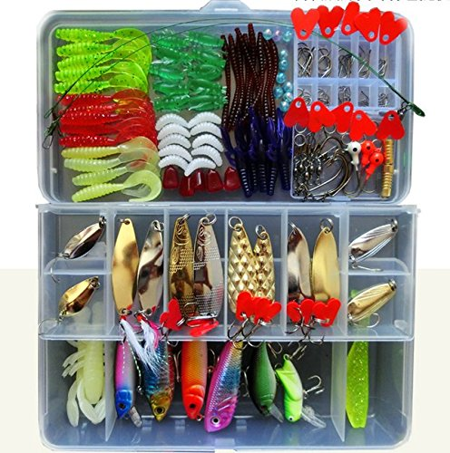 Bluenet-Fishing-Lure-Set-Fishing-Lure-Kit-Freshwater-with-a-Free-Tackle-Box-Best-Fishing-Lure-Setfishing-Lures-Kit-for-Fishing-Vivid-Fishing-Lures-Sharp-Hooks-and-Various-Fishing-Tacklehard-and-Soft-P