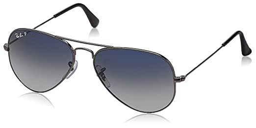 ray ban sunglasses blue aviator  Ray-Ban Aviator Sunglasses (Polar Blue and Faded Grey) (RB3025