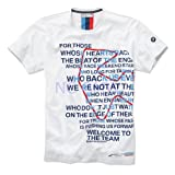 BMW Genuine Life Style Motorsport Men s Graphic T-Shirt Tee White S Small 80142285824 (Color: White, Tamaño: S)