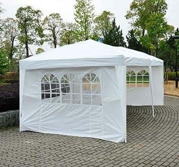 Barnum 3x6m chapiteau tente de jardin Pavillon Tente brasserie étanche PVC gris-blanc