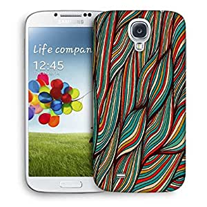 Snoogg Vector Hand Drawn Waves Texture Designer Protective Back Case Cover For Samsung Galaxy S4