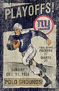 New York Giants Vintage Wall Art by Imperial International