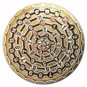 Amazon.com: 2-D Dice Coin: 'GP Gold': Toys & Games