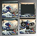 Zelda Wind Waker Japanese Art Great Wave Video Game Vinyl Decal Cover Skin Protector for Nintendo GBA SP Gameboy Advance Game Boy